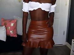 Phat Ass Ebony Panty Try On 17