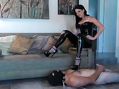 Living On The Edge - Femdom slave is used for Her amusement Preview - hairy stockings masturbation Goddess Kim