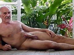 Grandpa hard outside