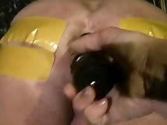 Lady Jenny stick burn in the buttocks Brutal femdom
