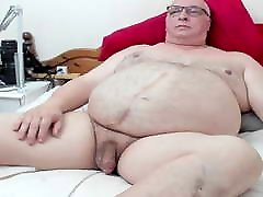 Chubby daddy playing