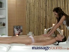 Massage Rooms Oily lesbian fun leads to screams of joy from cute glle action