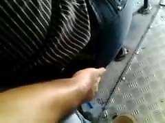 Touch a mature woman in bus