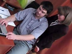 mature secretary was fucked in the office