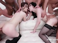 Tabitha Poison & Anna de Ville - Squirt Kissing 2 7on2 Balls Deep Anal, DAP, Big Gapes, Squirt Drinking and Swallow GIO1485