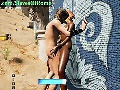 Slaves Of Rome Game - Fucking orgasme with machine Dimiara
