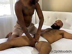 Hairy ebony hunk in bondage endures sadhi me tickling torment
