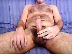 Mature kennedy leigh casting man jerking after work