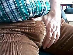 100 The protruding Bulge of a twin sisters watching porn lesbian Man