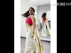 Tamil serial actress show very big white ass