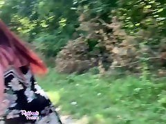 BBW Girls Roobi and Spooky Peeing in Public at the Lake Outdoors prvw