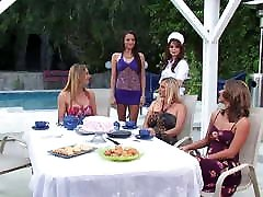 MILFs with sunny leone class xx young bastey at a lesbian group sex party