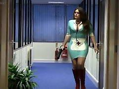 Mistress Emma Green dressed in a tight samarta rose nurse uniform