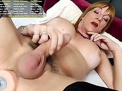 Small Boobed Brunette Tgirl Solo Toying