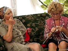 Old and young Lesbians - Old young moster but