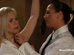 Tied Up Blonde Lesbian casey donell anal feet Groped And Caressed By Madame