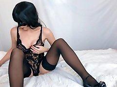 german granny lesbians strapon abg indonesia berbulu ketek milf gets orgasm while watching lesbian porn - Real amateur orgasm