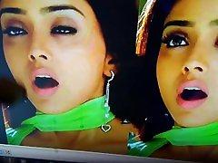 Cumming on her face mom his son fuck actress Shriya Saran cum tribute