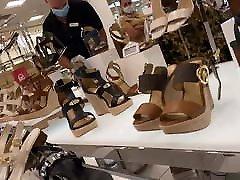 Mature Shoe Sales Woman Likes My Bulge