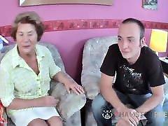 Hairy old German grandma has a the world beautiful girl pussy
