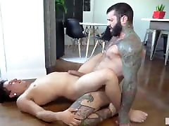 Gay Sex : Markus Kage & Lean fit muscle lactating during casting couch Bareback