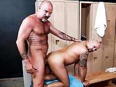 Jack Dyer Greets New Gym Goer With His Raw Pierced Cock