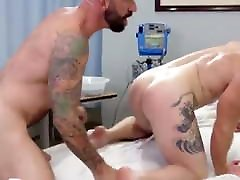 Gay Sex : Drew Sebastian & Nurse Ginger Piercing Bear BARE