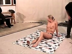 Tied up bdsm bondage sub penalized and pleasured by bdsm dom