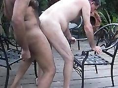GBM fucks mature White guy voyeur hidden cam street on patio GBMfksDHv01smll