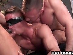 HotHouse Blindfolded and Spitroasted by Total Hunks scene 2