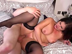 Mature mom with a big booty spoils her son