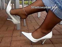 Bbw mature in pantyhose heels