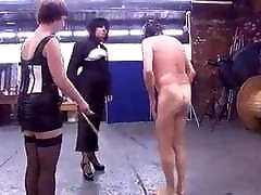 2 Mature Mistresses cane slave