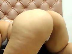 BBW bouncing fat ass in white thong