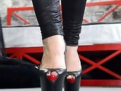 Mistress Trampling Hard on Slave&039;s Face