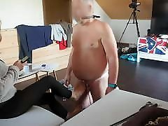 Tranny Dom using her personal house slave