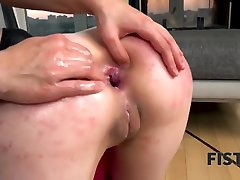 FIST4K. Wild chicks fool around exploiting strapon and fist for anal hookup