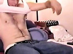 Dicksucked straight amateur cums for gay daddy