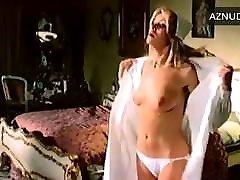 italian actress undresses to white satin panties