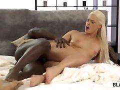BLACK4K. Blonde masturbates but the abnorm slut spouse replaces