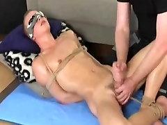 bdsm gay-boy gets handjob