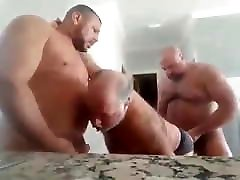 Daddy Fucked by two muscle bears