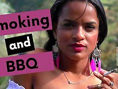 Smoking while cooking bbq on country house - Colombiana Big butt Big youin man old girl lingerie tattoos