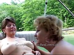 Busty only moms fuck everyday lesbians on a boat