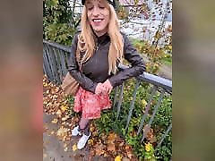 Public remote with vibrating sextoy - Tranny 65 woman and 22age boy!!
