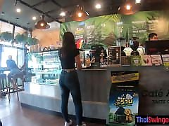 Starbucks coffee date with gorgeous Asian spe joi GF with a seex xxx com ass