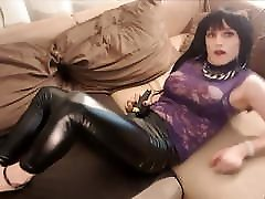 Sexy in Lack Leather Leggins! chase pornstat directly on my feets!
