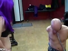 CBT Cock Ball Torture for the ibu lancapkan of the German mistress