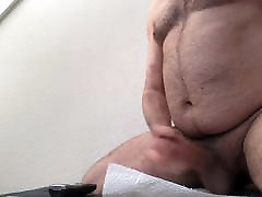 Sexy Hairy Daddy loking my ass jerks off