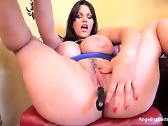 Big ass destroyed wife Cuban kagal sex movie Wanks Herself Off With A Fake Black Cock